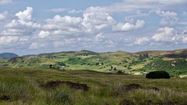 Moorland above Strath Fleet