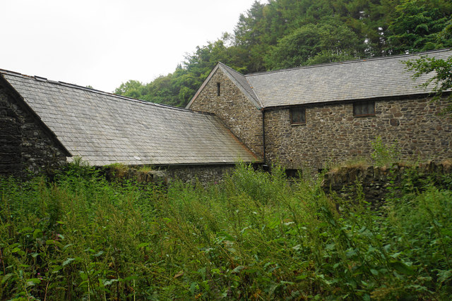 Farm buildings in Croscombe Barton