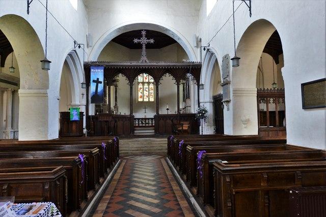 Wing, All Saints Church: The Saxon nave