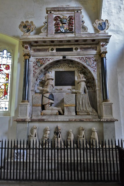 Wing, All Saints Church: The Dormer monument of 1616  2