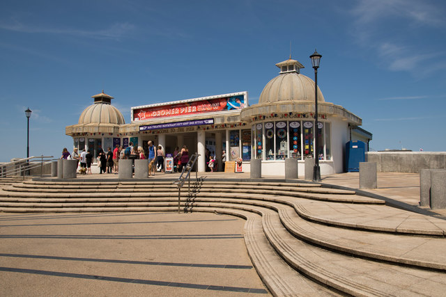 The entrance to Cromer Pier