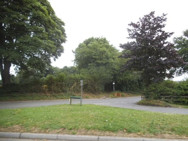 Pepsal End Lane at the corner of Front Road