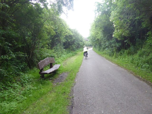 Seat beside the Bristol and Bath cycle path