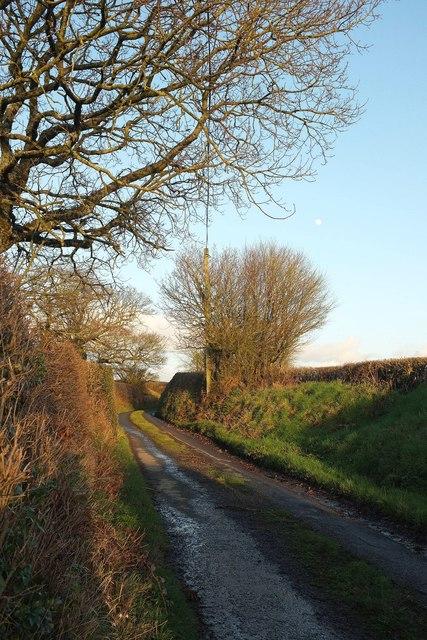 Lane to Eastacott Cross