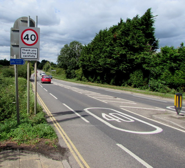 Thank you for driving carefully (in Nibley, South Gloucestershire)
