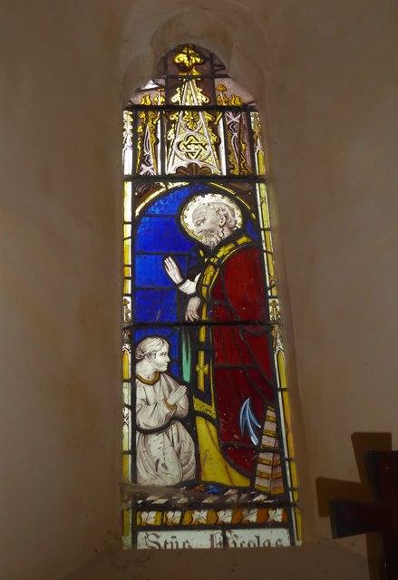 St Nicholas, Brockley: stained glass window (b)