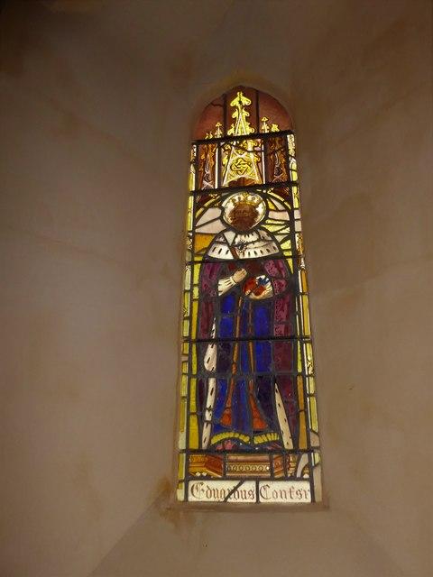 St Nicholas, Brockley: stained glass window (c)