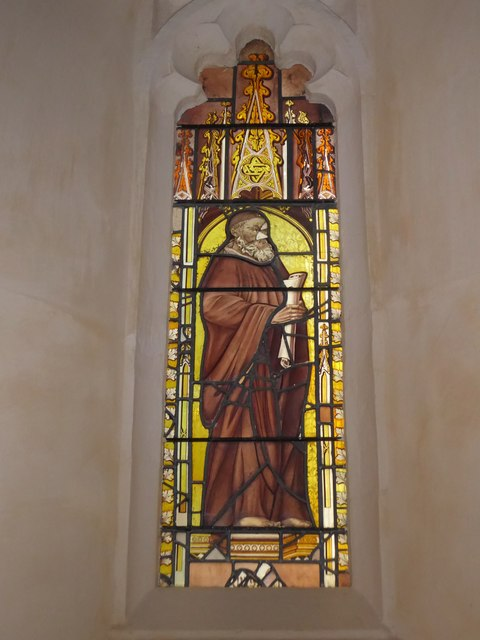 St Nicholas, Brockley: stained glass window (d)