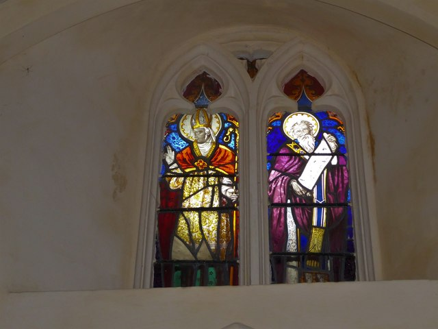 St Nicholas, Brockley: stained glass window (e)