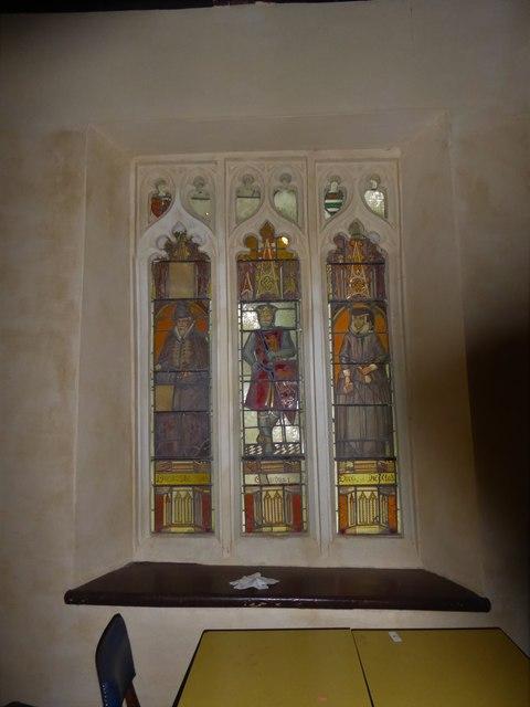 St Nicholas, Brockley: stained glass window (f)