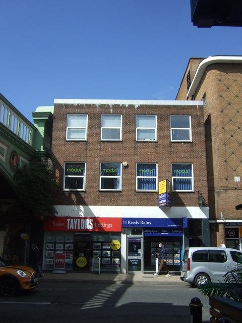 Estate agents on Foregate Street, Worcester