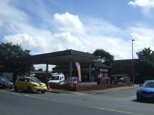 Service station on Droitwich  Road, Worcester