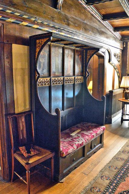 Settle by G.F. Bodley, Wightwick Manor