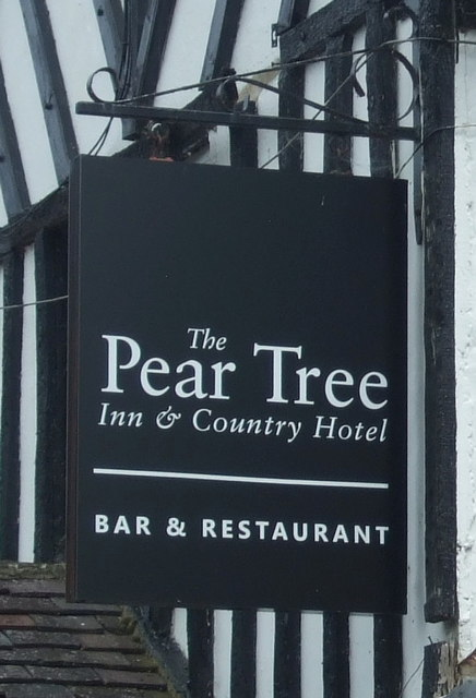 Sign for the Pear Tree Inn and Country Hotel