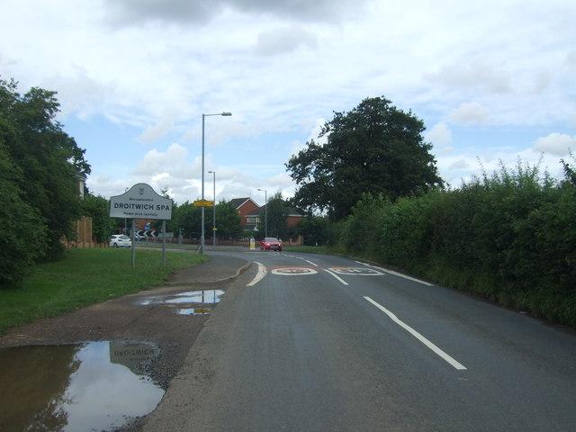 Entering Droitwich Spa