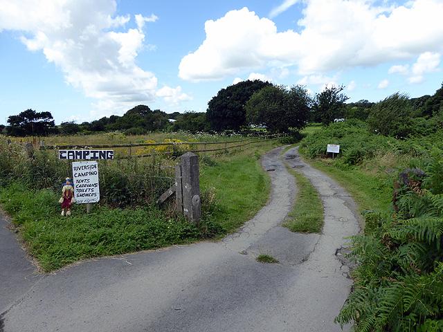 Access to camp site on Bont Fechan Farm