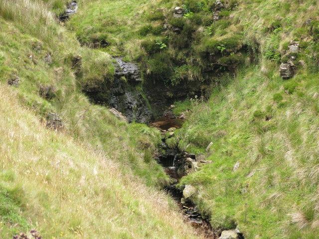 Small waterfalls on Killhope Burn