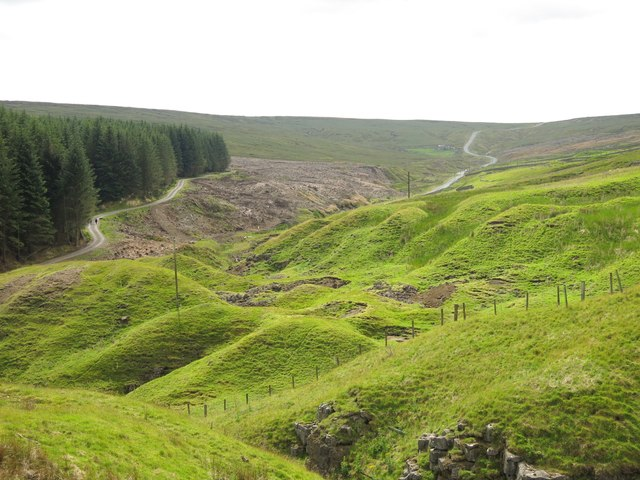 Old mine workings at the foot of Carriers' Hill