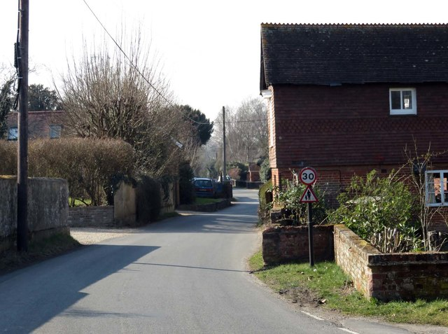 The road through Wonston