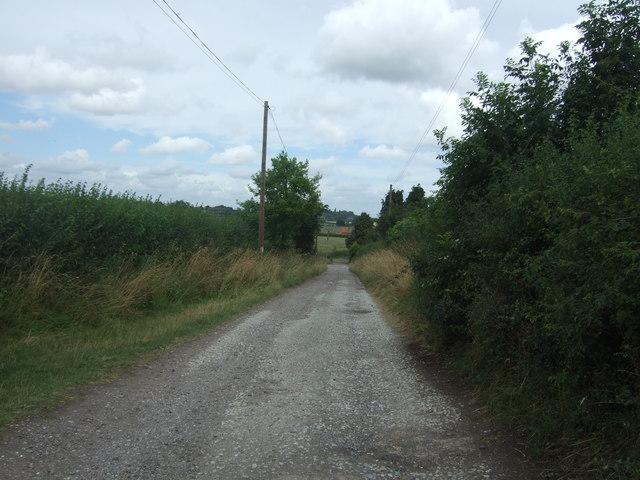 Track (bridleway) to Westfields Farm