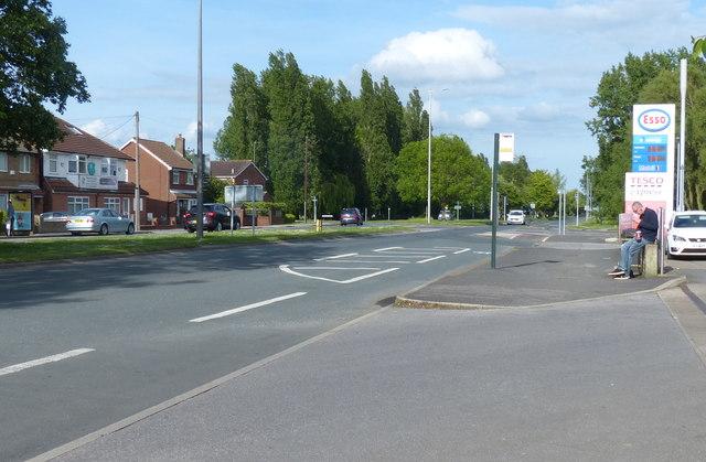East along the A1105