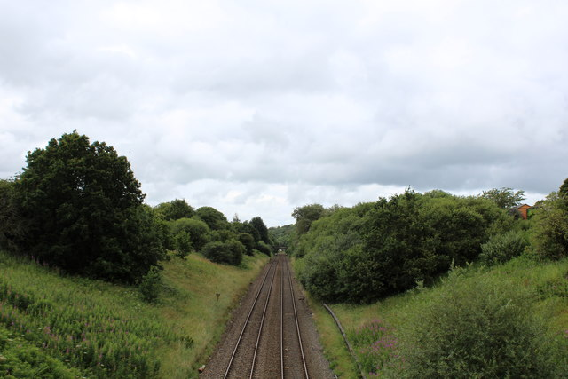 Railway South of Ramsgreave and Wilpshire Station