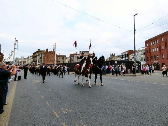 Horses leading the parade