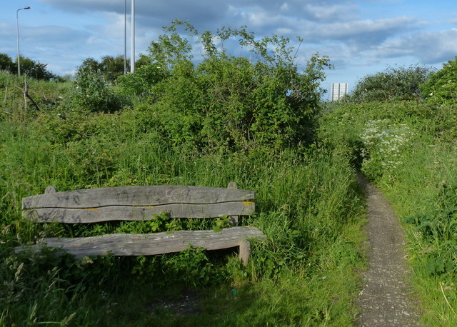 Seat along the Trans Pennine Trail