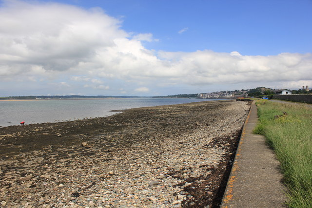 The Coast along Aber Foreshore Road