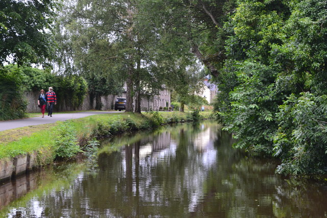 Monmouthshire and Brecon Canal entering Brecon