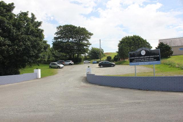 Entrance to Caernarfon Golf Club