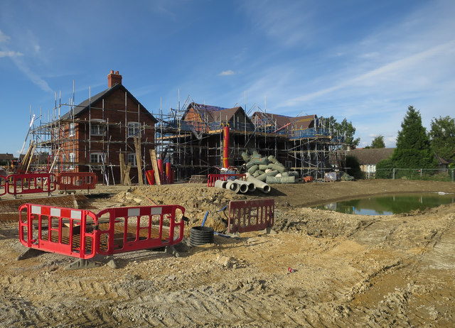 Houses under construction, Waterbeach
