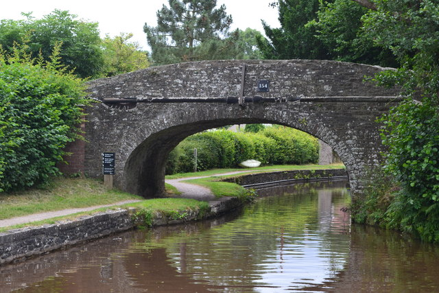 Bridge No. 154 on the Monmouthshire and Brecon Canal at Pencelli
