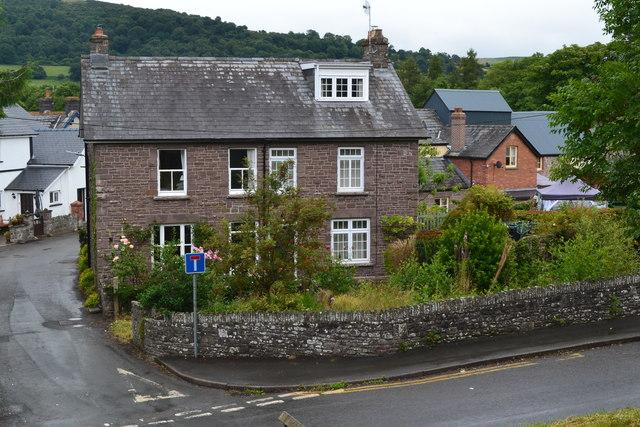 House on the corner of Mill Lane, Talybont-on-Usk