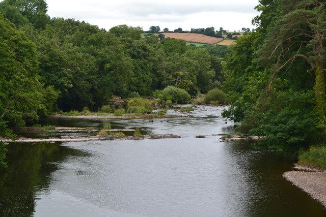 River Usk below Brynich Aqueduct