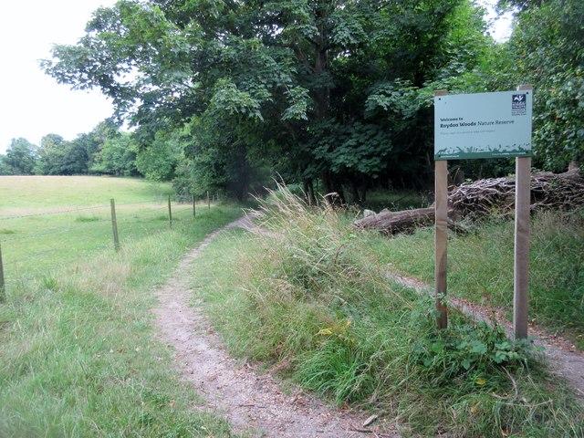 Entrance to Roydon Woods Nature Reserve