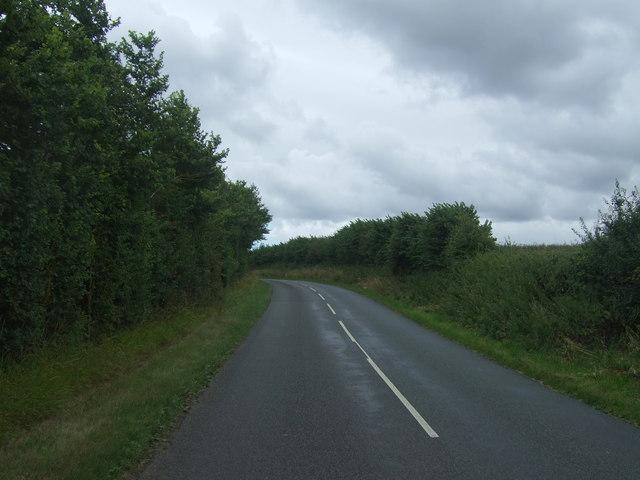 School Road towards Hanbury