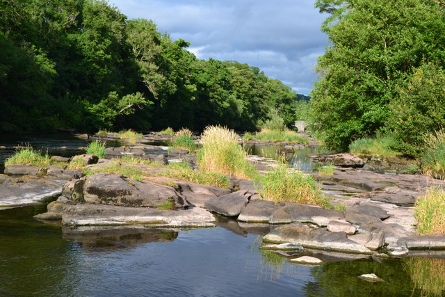 River Usk at Llangynidr