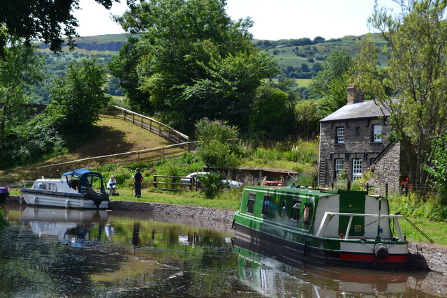 Llangattock on the Monmouthshire and Brecon Canal