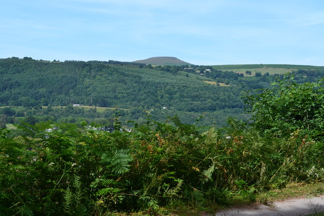 View towards Sugar Loaf across the Usk Valley