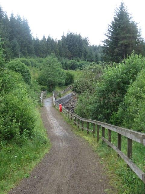 Lakeside path passing Little Wickhope Burn