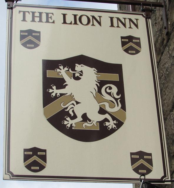 Lion Inn name sign, Govilon