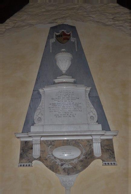 St Nicholas, Brockley: memorial (a)