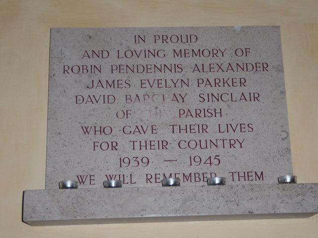 St Nicholas, Brockley: memorial (b)