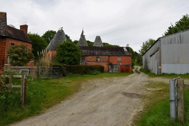 Upper Mitchell Farm, derelict oast house 2
