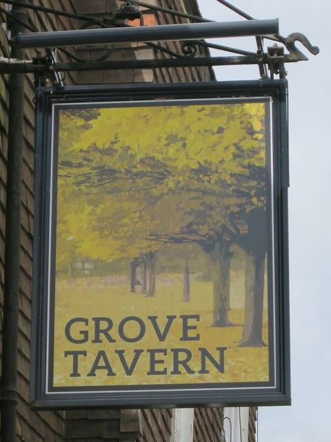 Grove Tavern sign