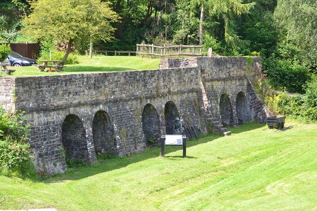 Former lime kilns at Goytre