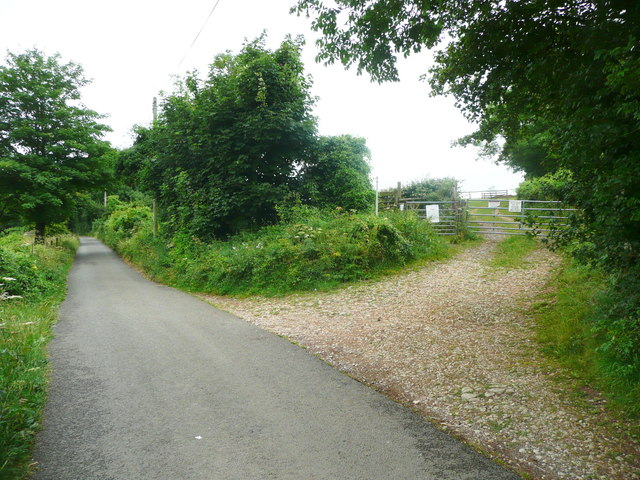Footpath from Painswick Old Road at Folly Lane, Slad