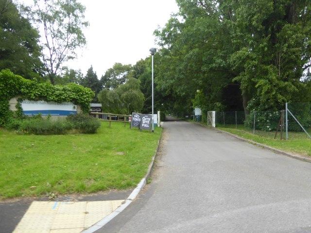 Entrance to caravan park, Brassmill Lane