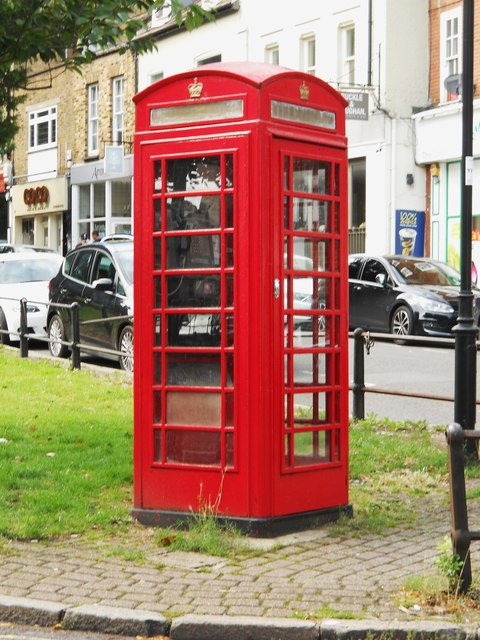 K6 telephone box on The Green, Winchmore Hill